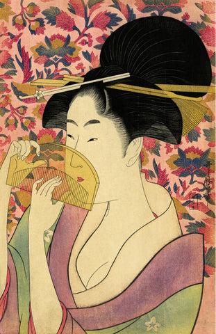 """Woman With Comb"" - Utamaro, 1795-96"