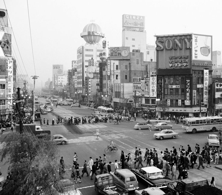Ginza Tokyo, in 1960 - Photo