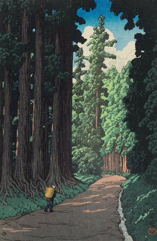 The Road to Nikko - Print by Kawase Hasui