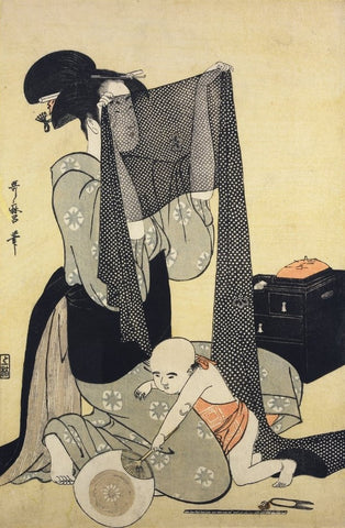 """Woman Sewing"" - Utamaro, 1794-95"