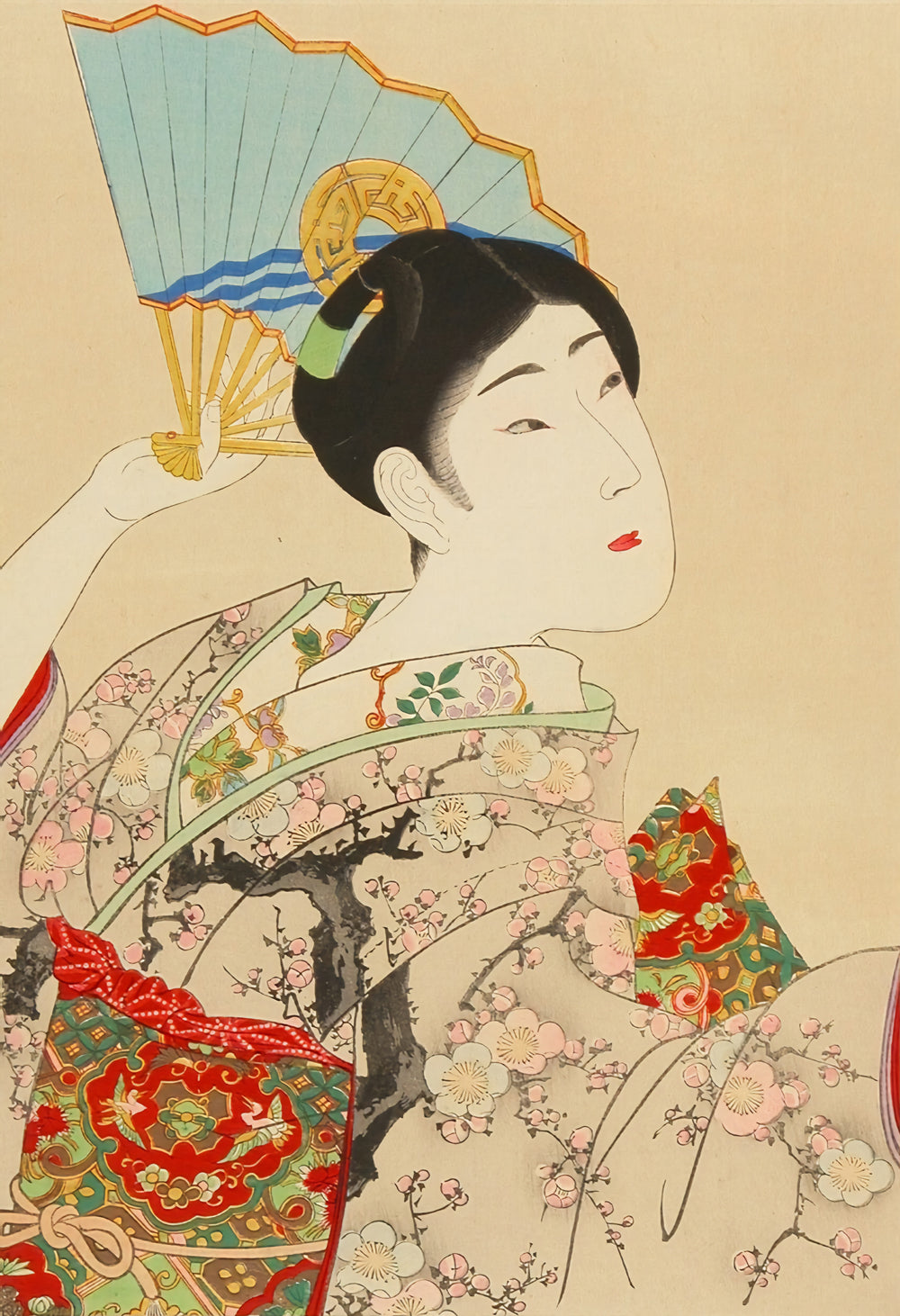 Shin Bijin, Beauty With a Fan (1897-98)