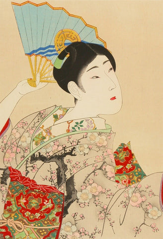"""Shijin Bijin, Beauty with Fan"" - Chikanobu, 1897-98"