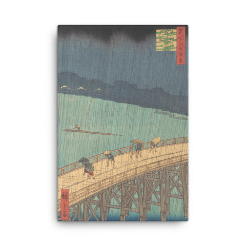 """Sudden Shower over Shin-Ōhashi Bridge and Atake"" - Hiroshige, 1857"