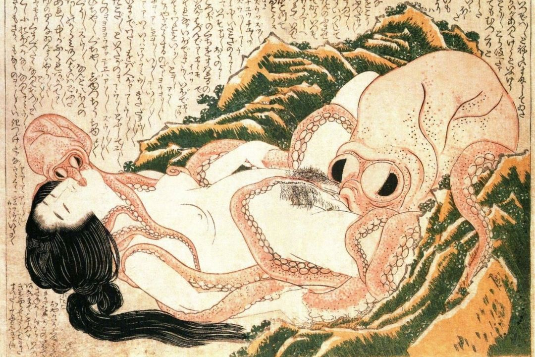 The Dream of the Fisherman's Wife (1814) - by Hokusai
