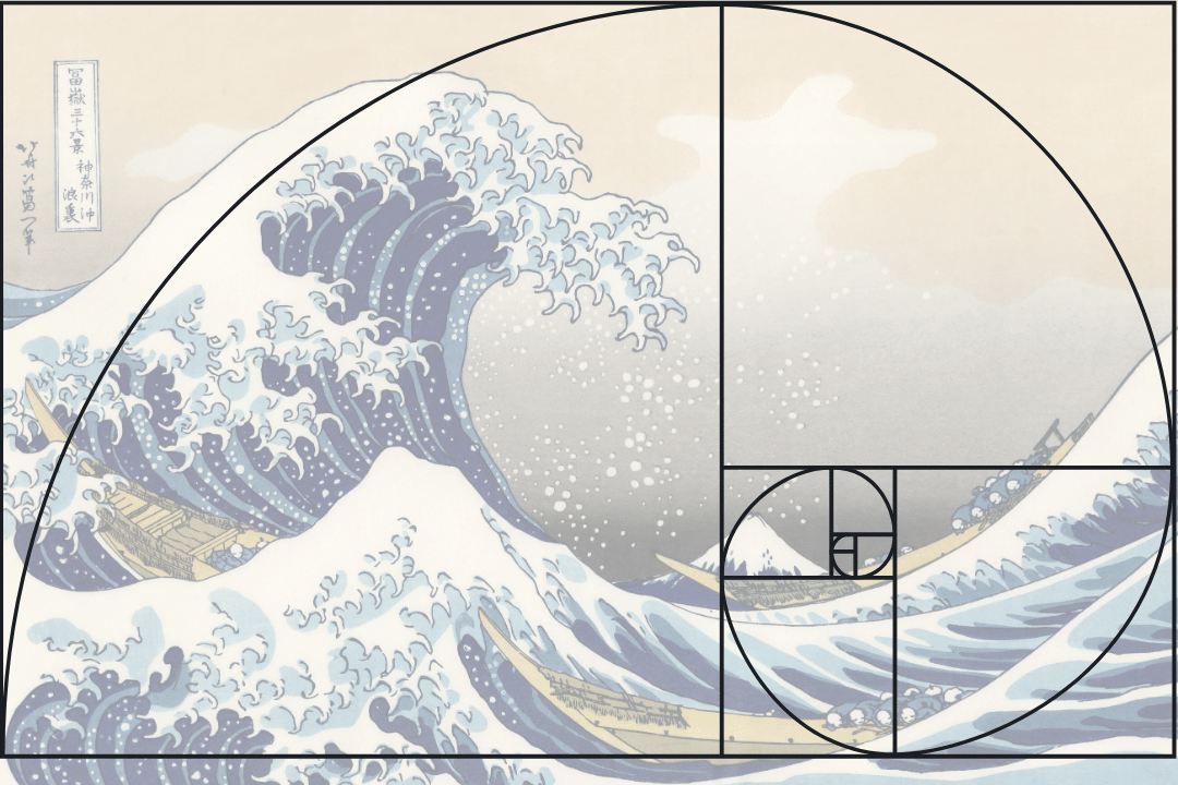 The great wave - golden ratio