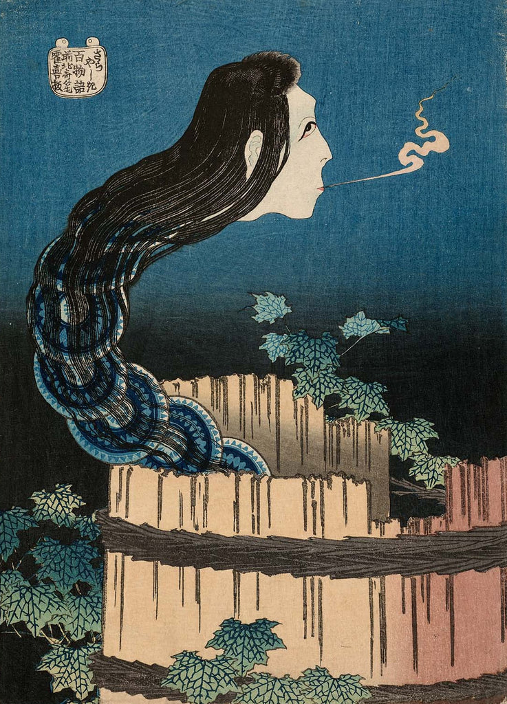The Mansion of the Plates - By Katsushika Hokusai