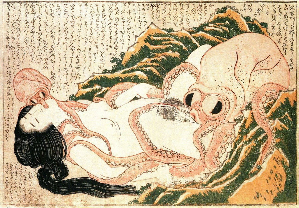 Hokusai - The Dream of the Fisherman's Wife (1814)