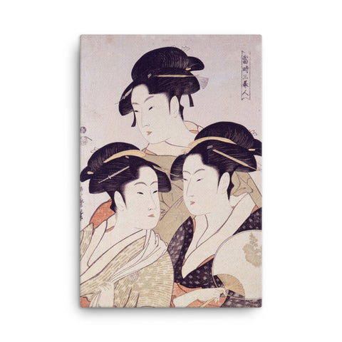 """Three Beauties of the Present Day"" - Utamaro, 1793"