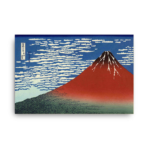 """Mount Fuji in Clear Weather (Red Fuji)"" - Hokusai, 1830-1832"