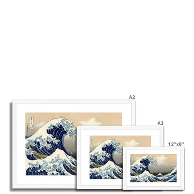The Great Wave Off Kanagawa (1832) - Framed & Mounted Print