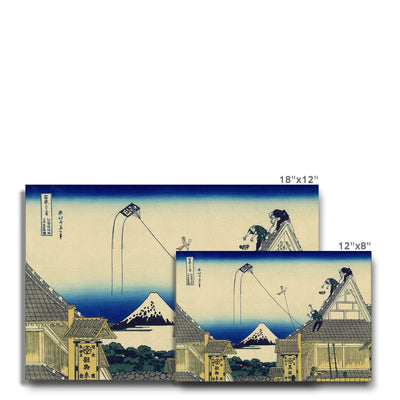The Mitsui Shop In Suruga, Edo - Canvas Black Frame