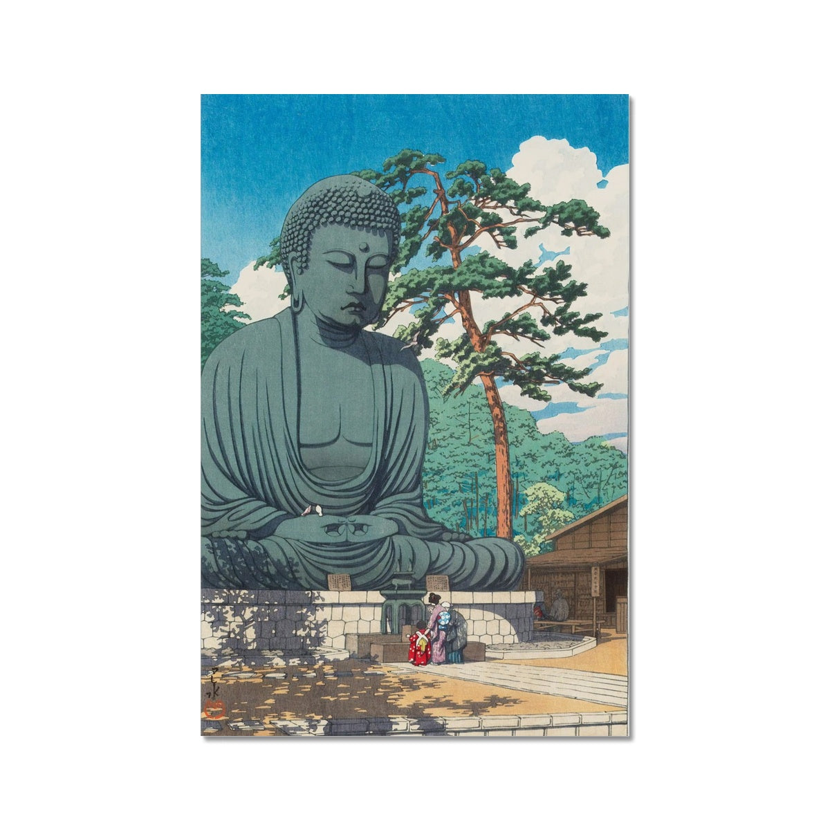 The Great Buddha at Kamakura (1930) - Fine Art Print