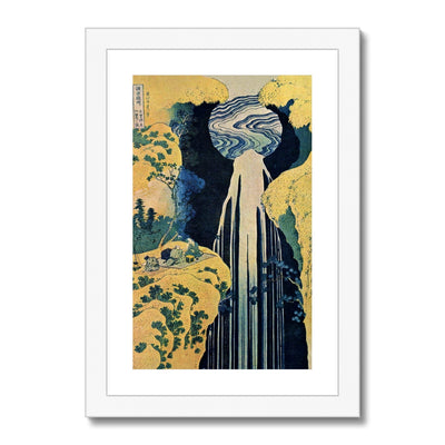 The Amida Falls in the Far Reaches of the Kisokaidō Road - Framed & Mounted Print