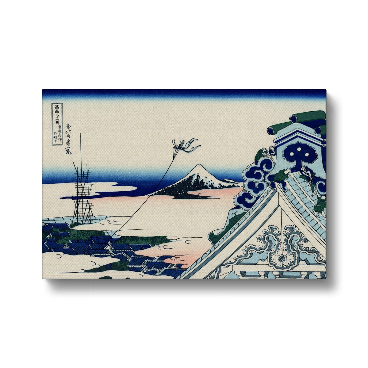 Asakusa Hongan-Ji Temple In The Eastern Capital [Edo] - Canvas Black Frame