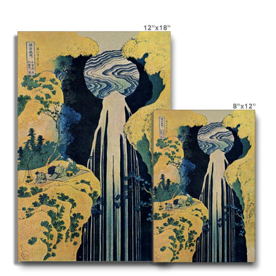 The Amida Falls in the Far Reaches of the Kisokaido Road (1833-34) - Canvas