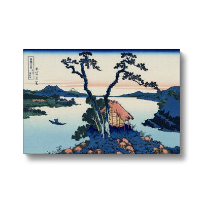 Lake Suwa In Shinona Province - Canvas Black Frame