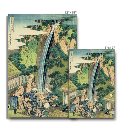 Rōben Waterfall at Ōyama in Sagami Province - Canvas Black Frame