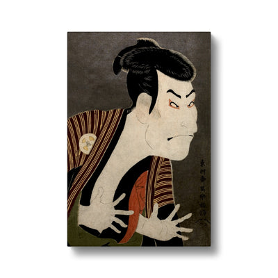 Ōtani Oniji III as Yakko Edobei (1794) - Canvas Black Frame