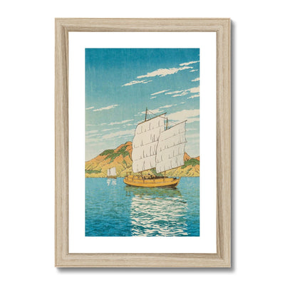 Ship in Bingo District (1923) - Framed & Mounted Print