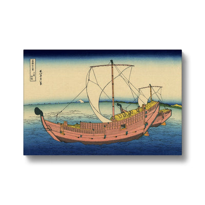 The Kazusa Province Sea Route - Canvas Black Frame