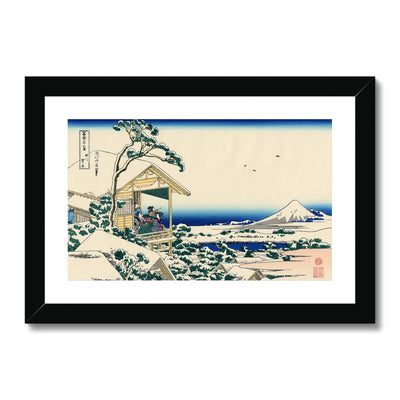 Tea House At Koishikawa. The Morning After A Snowfall Framed & Mounted Print