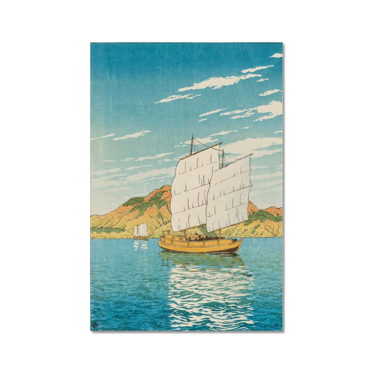 Ship in Bingo District (1923)- Fine Art Print