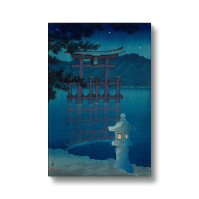 Starry Night at Miyajima Shrine (1928) - Canvas