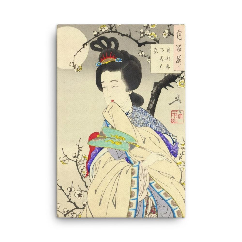 "Spirit of the Plum Tree (1888)-Yoshitoshi-Wall Art-12""x18""-Canvas-Rising Sun Prints"