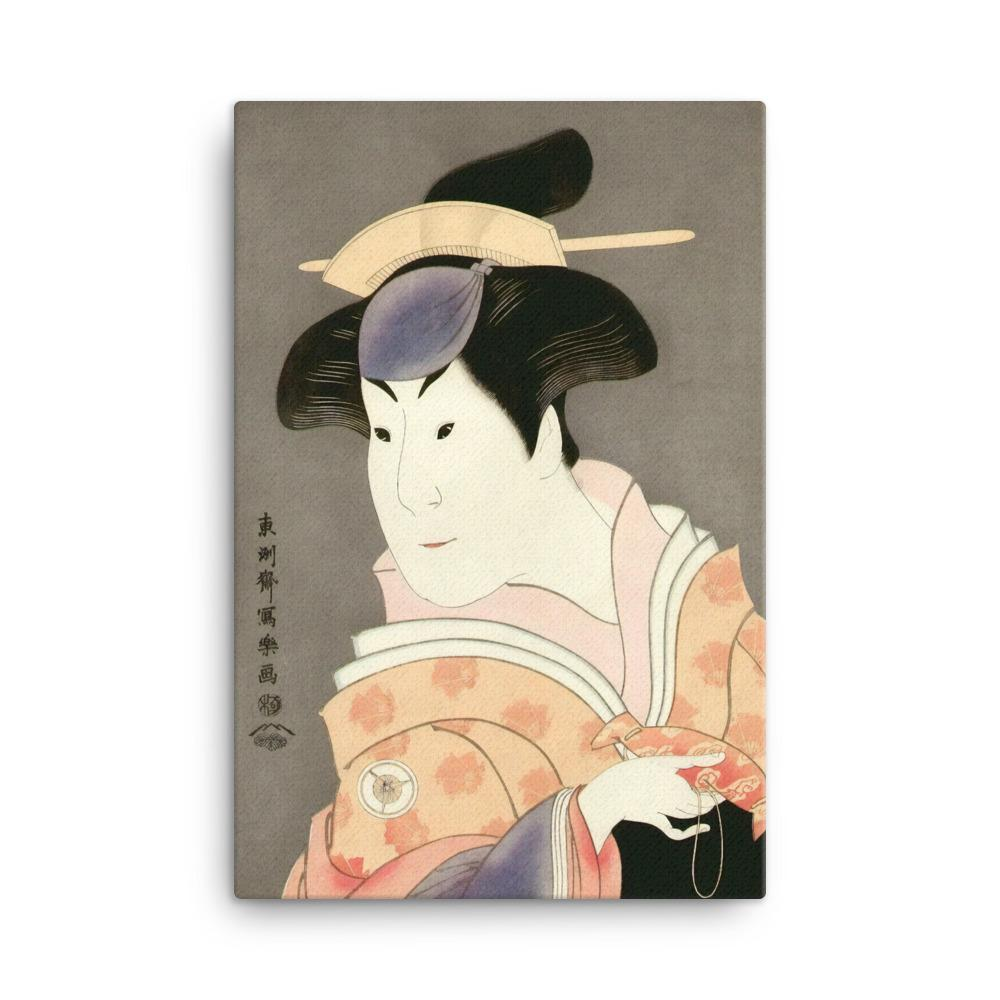 "Iwai Hanshiro IV as the Wet Nurse Shigenoi (1794)-Sharaku-Wall Art-12""x18""-Canvas-Rising Sun Prints"