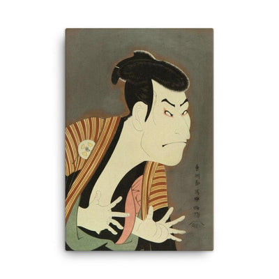 "Ōtani Oniji III as Yakko Edobei (1794)-Sharaku-Wall Art-12""x18""-Canvas-Rising Sun Prints"