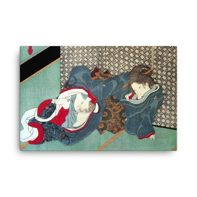 "Woman Masturbating-Kunisada-Wall Art-12""x18""-Canvas-Rising Sun Prints"