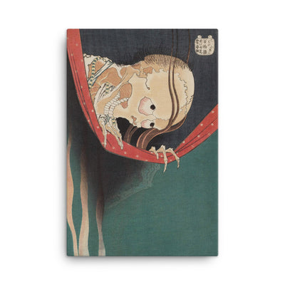 "The Ghost of Kohada Koheiji (1831)-Hokusai-Wall Art-12""x18""-Canvas-Rising Sun Prints"