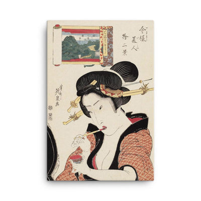 "Woman of Unyielding Appearance (1822-23)-Keisai Eisen-Wall Art-12""x18""-Canvas-Rising Sun Prints"