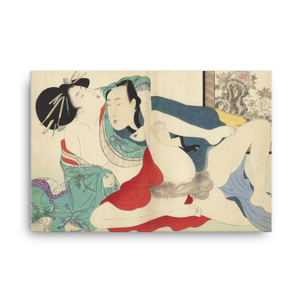 "Prelude to Desire-Utamaro-Wall Art-12""x18""-Canvas-Rising Sun Prints"