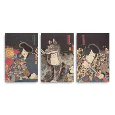 Three Kabuki Actors (1852)