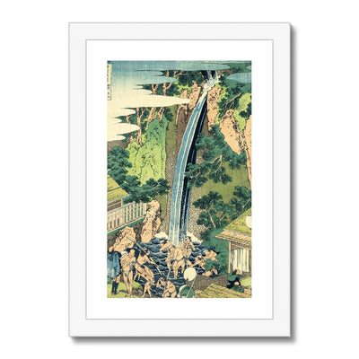 Rōben Waterfall at Ōyama in Sagami Province - Framed & Mounted Print
