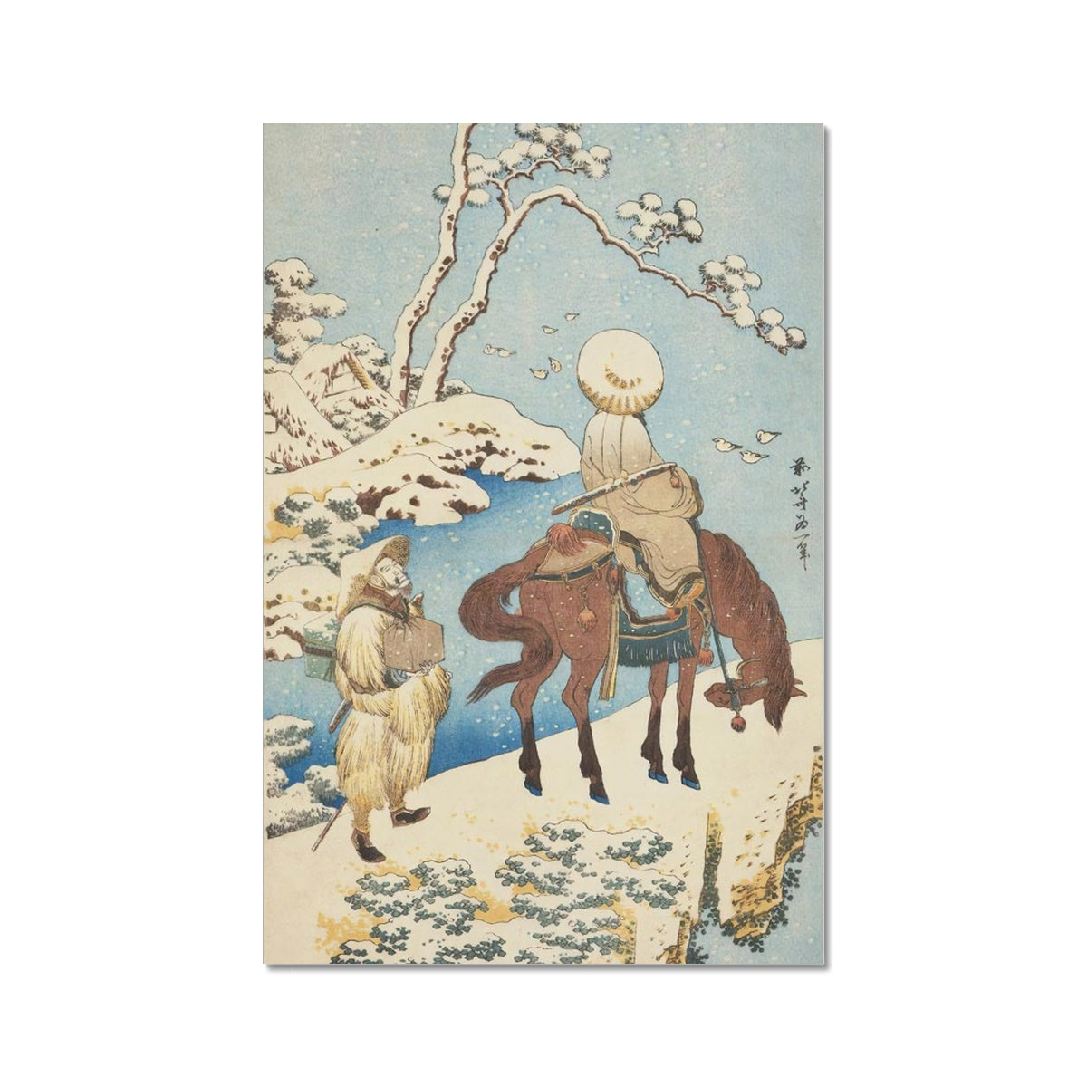Traveler in Snow (1833) - Fine Art Print