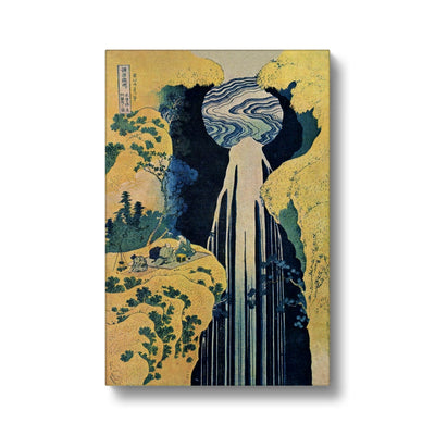 The Amida Falls in the Far Reaches of the Kisokaido Road (1833-34) - Canvas Black Frame