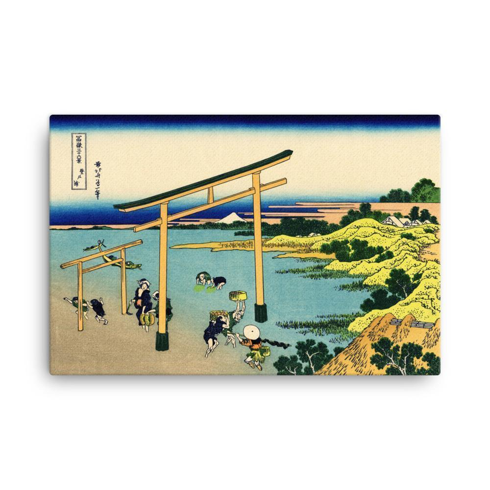 "Bay Of Noboto-Hokusai-Wall Art-24""x36""-Canvas-Rising Sun Prints"