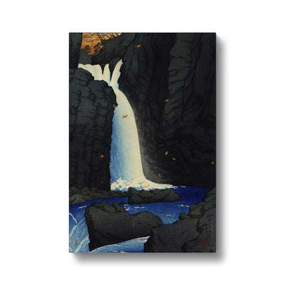 Yuhi Waterfall, Shiobara (1920) - Canvas Black Frame