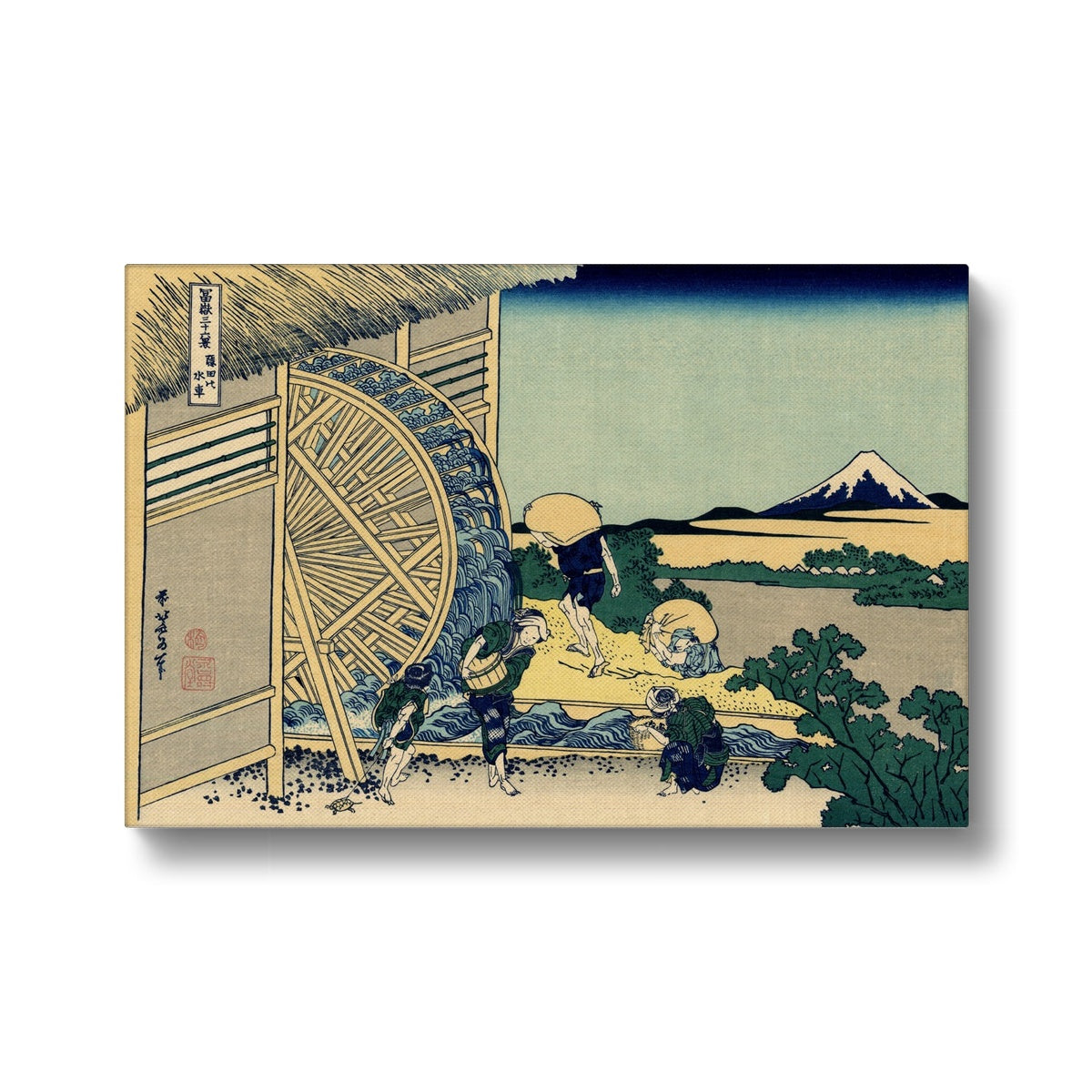 Watermill At Onden - Canvas Black Frame