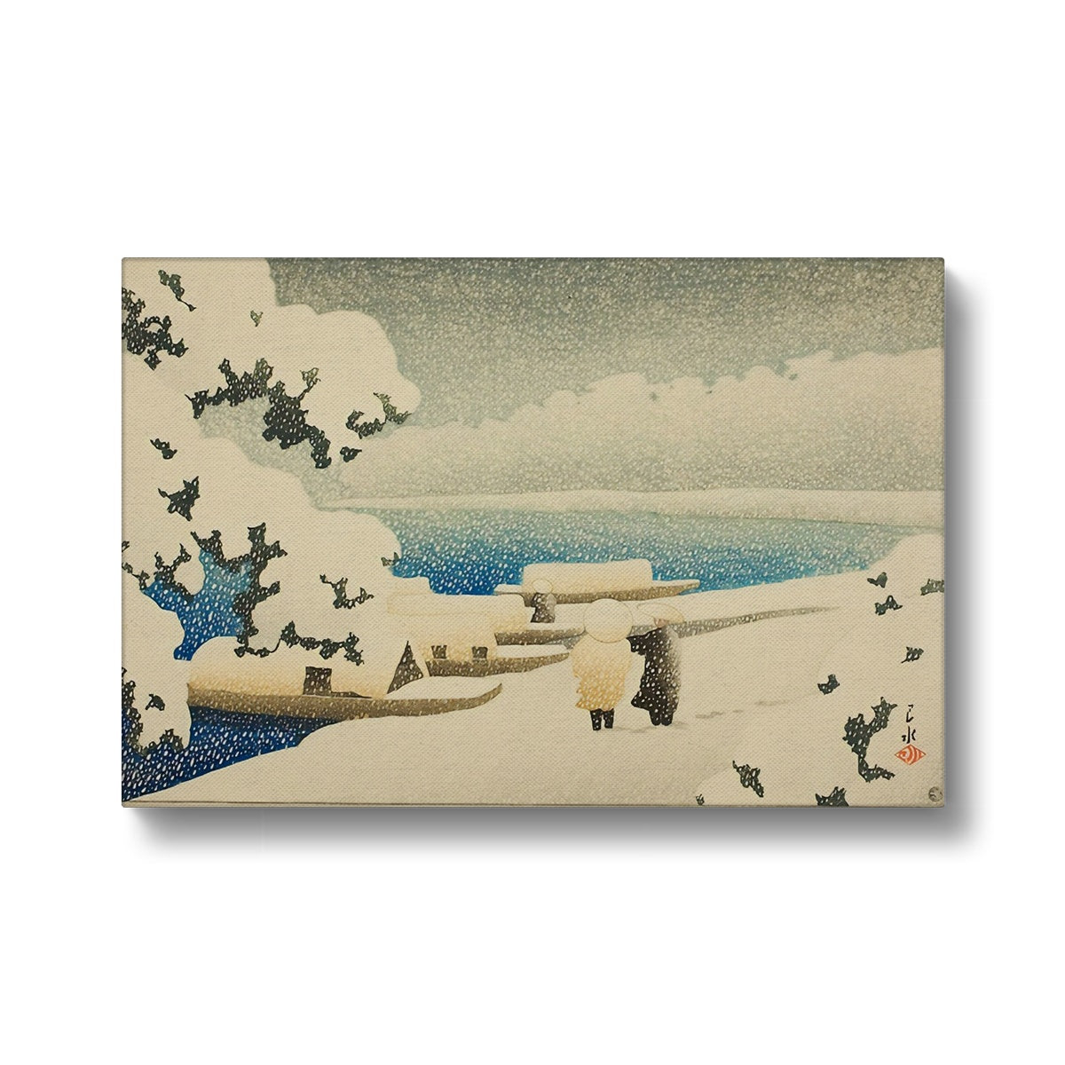Snow at Amanohashidate (1921) - Canvas