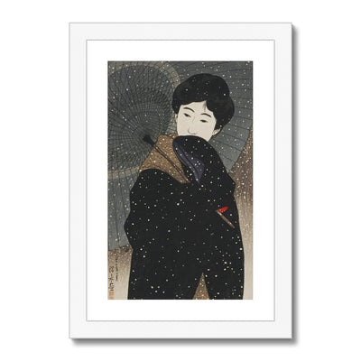 Snowy Night (1923) - Framed & Mounted Print