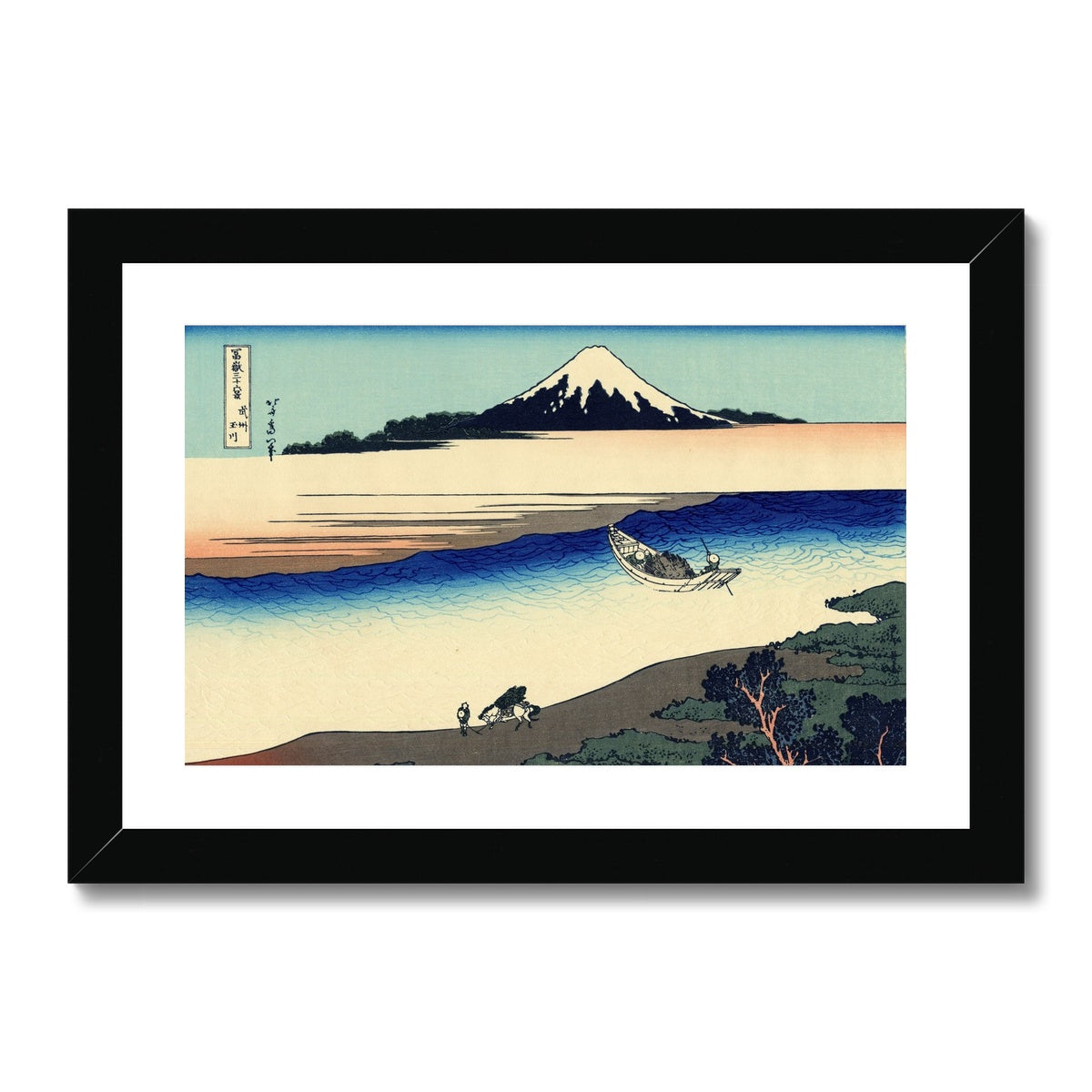 Tama River In Musashi Province - Framed & Mounted Print