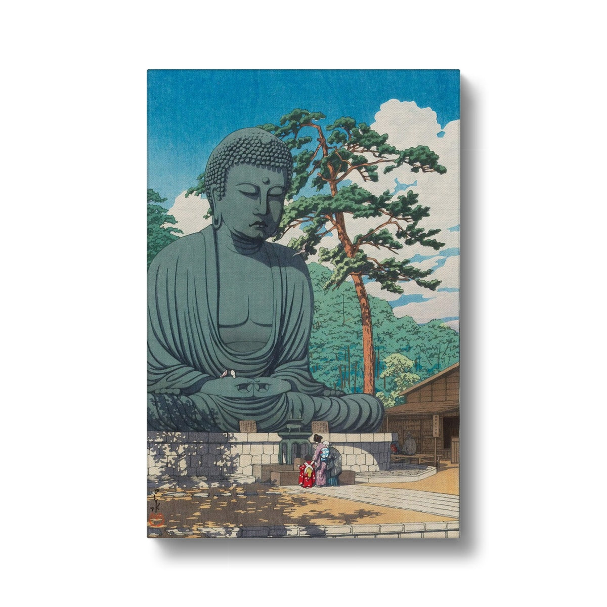 The Great Buddha at Kamakura (1930) - Canvas Black Frame