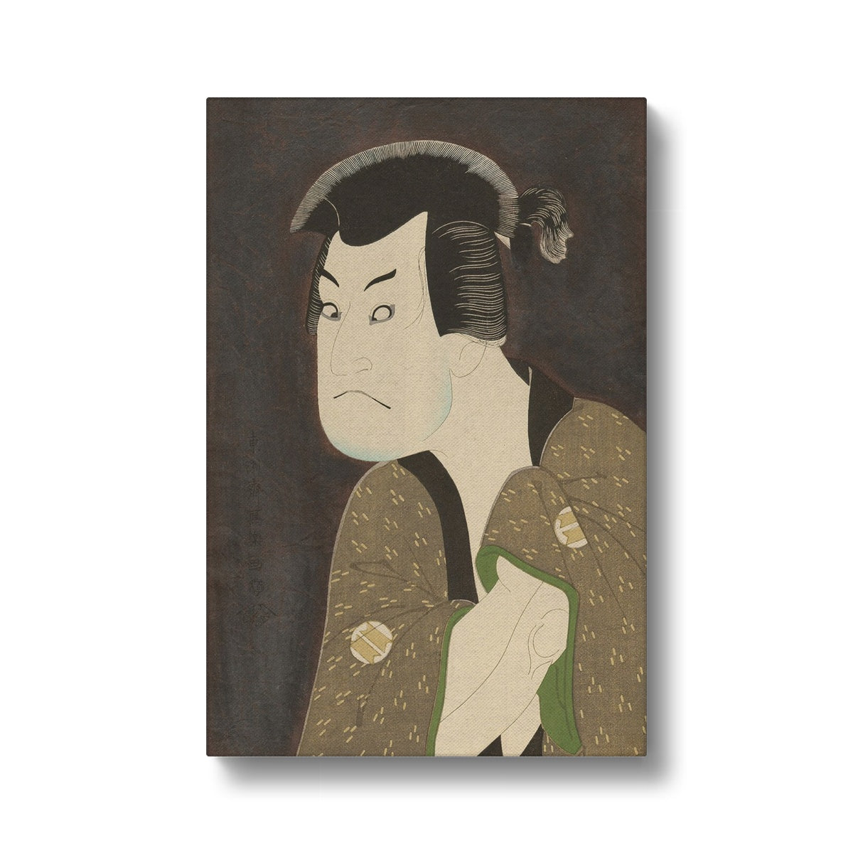Sakata Hangorō III as the Villian Fujikawa Mizuemon (1794) - Canvas Black Frame