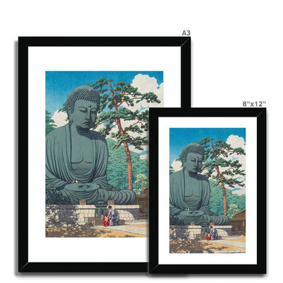 The Great Buddha at Kamakura (1930) - Framed & Mounted Print