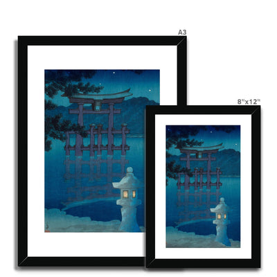 Starry Night at Miyajima Shrine (1928) - Framed & Mounted Print