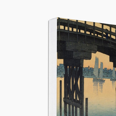 Kamino Bridge, Fukagawa (1920) - Canvas