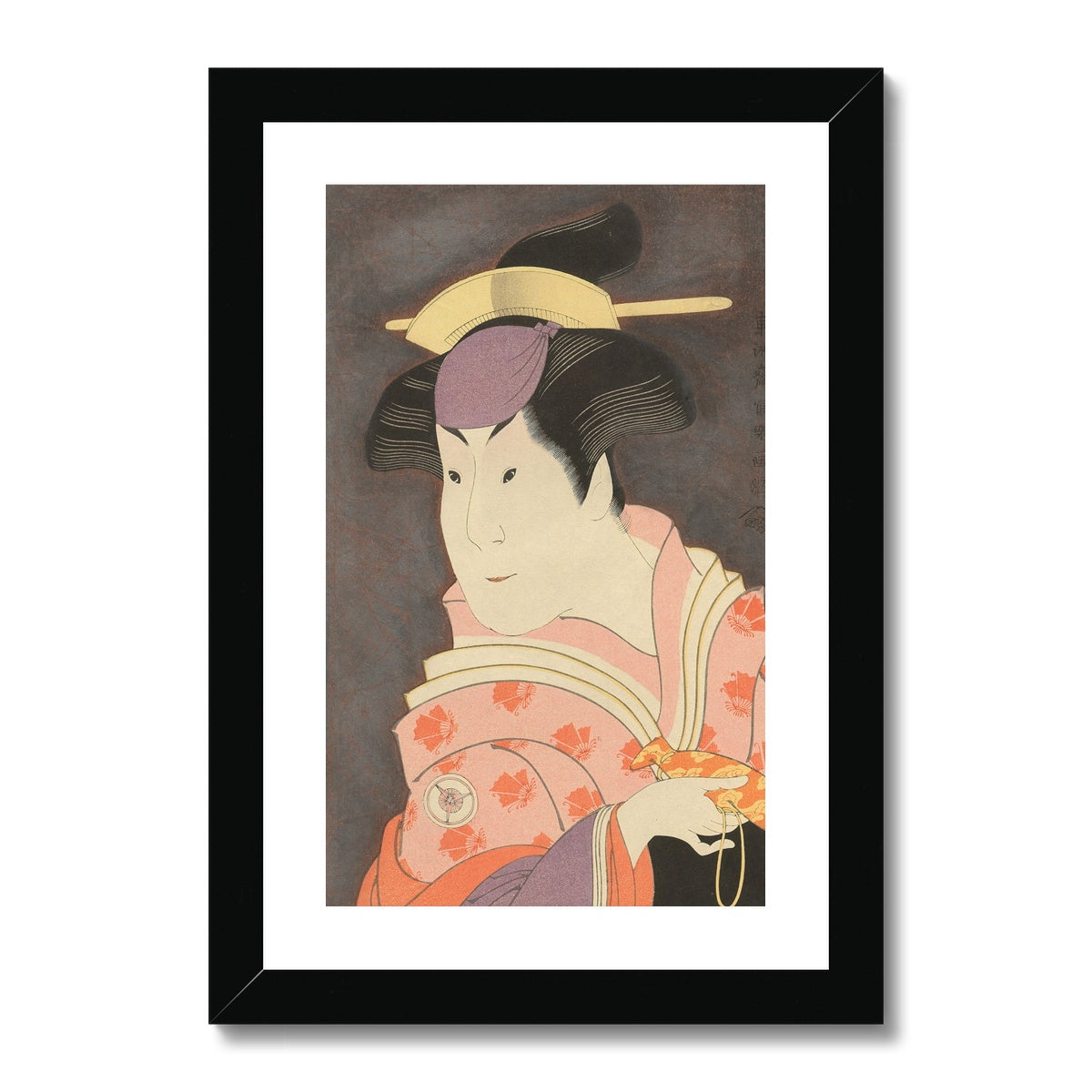 Iwai Hanshiro IV as the Wet Nurse Shigenoi (1794)- Framed & Mounted Print